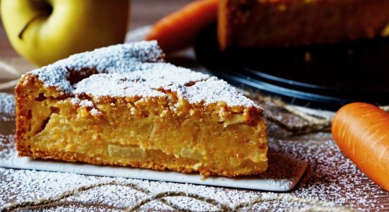 Gâteau aux pommes et carottes